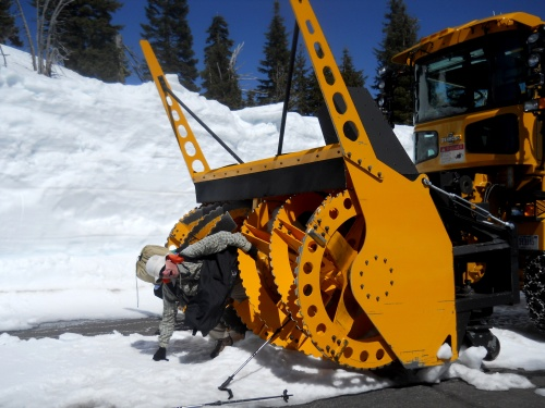Watch out for snow plows!