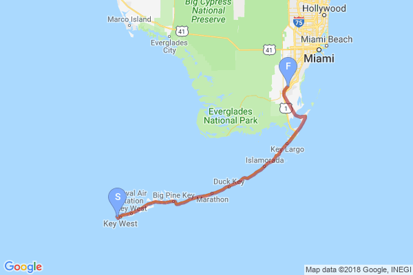 Florida Keys Trail Map