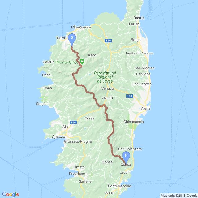 GR20 of Corsica