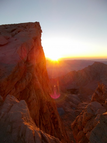 Sunrise on Mount Whitney!