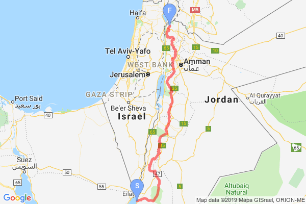 Jordan Trail Map