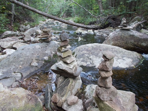 Cairns on the Winhall River