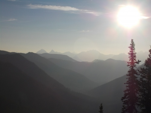 Sunrise over the Whitefish Divide