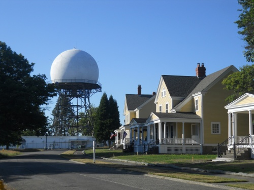 Radar tower on Officers Row
